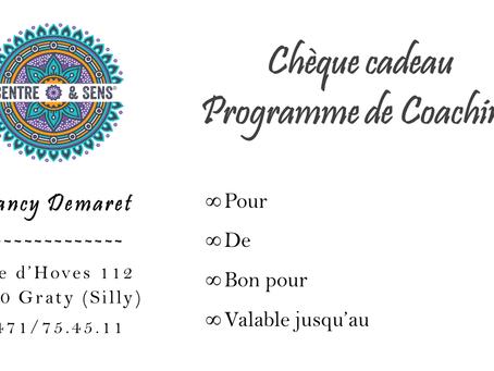 CHÈQUE CADEAU – PROGRAMME DE COACHING
