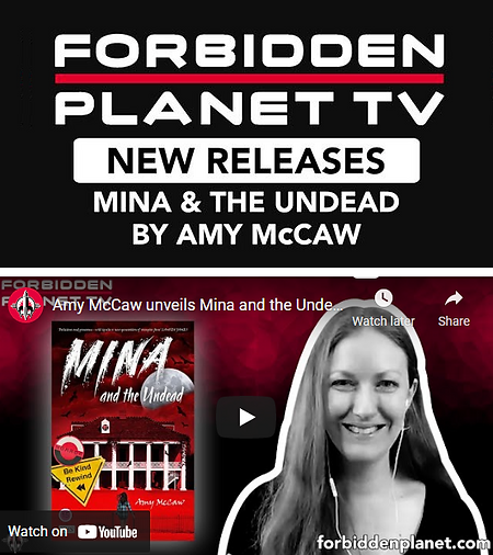 Forbidden Planet TV Interview Amy McCaw.