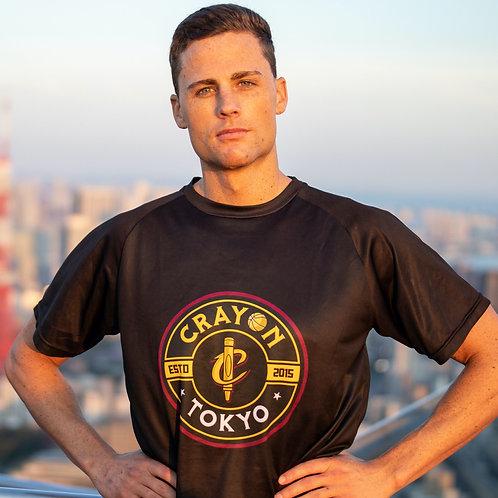 Crayon Black Circle Logo T-Shirt
