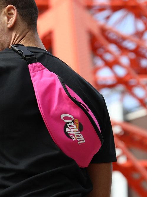Crayon Logo Pink Fanny Pack