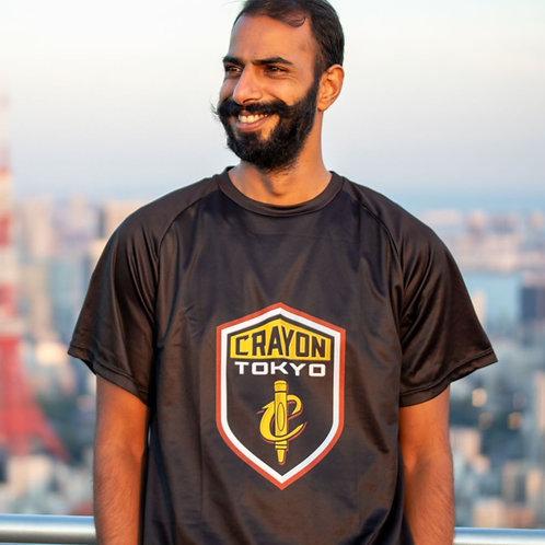 Crayon Black Shield Logo T-Shirt