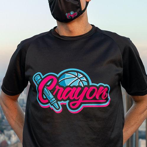 Crayon Black T-shirt Blue/Pink