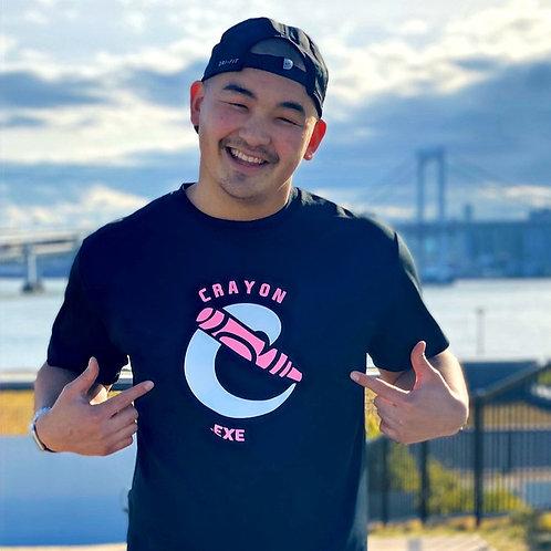 Crayon PINK logo T-shirt