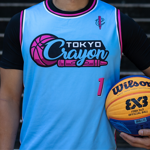"Ryan Tana ""Powder Blue"" Reversible Pink/Black Jersey"