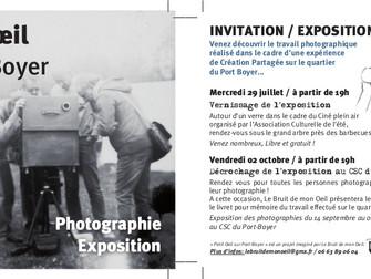 Petit œil sur Port-Boyer : exposition et vernissage