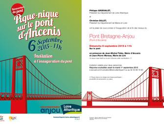 Pique-nique sur le pont d'Ancenis