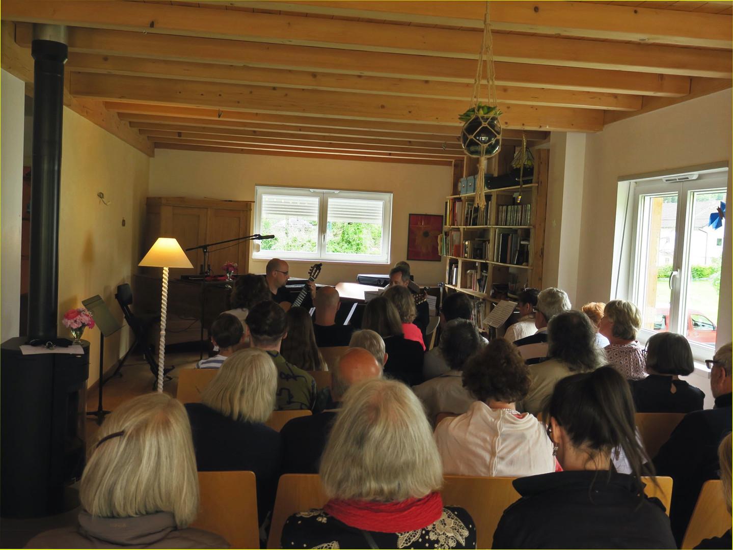 Jaberg Haus Konzert Publikum