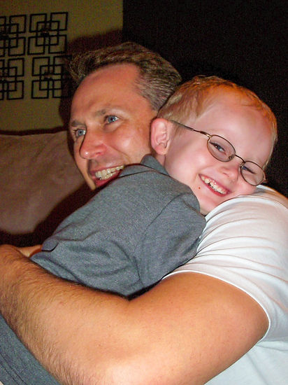 Me and my son Vaughn who has an autism spectrum disorder.
