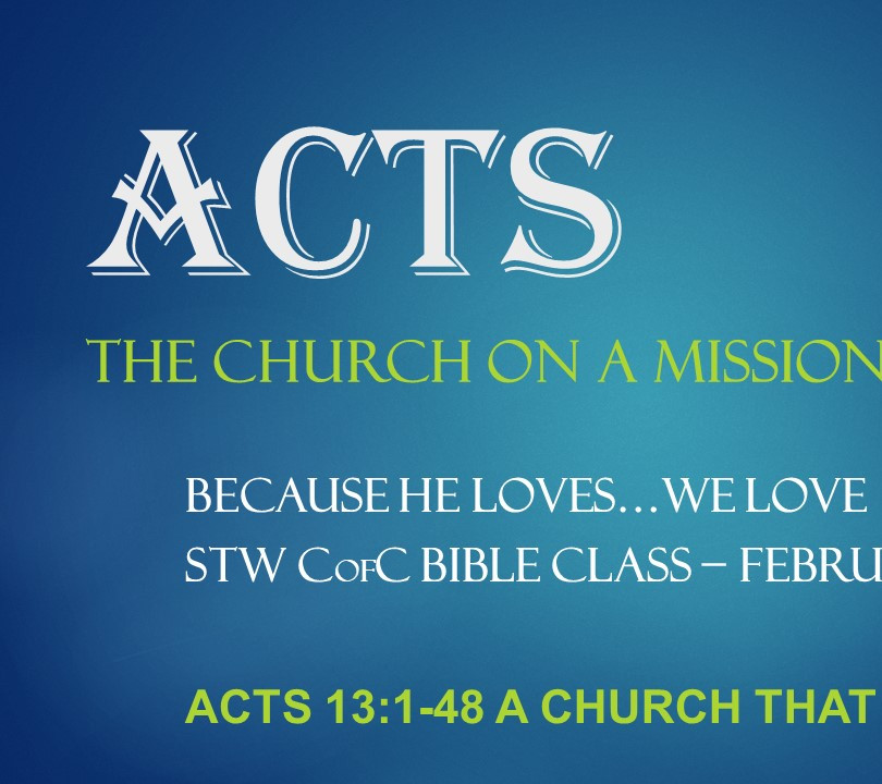 Acts Lesson 1 - Acts 13