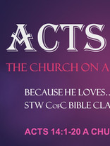 Acts Lesson 2 - Acts 14