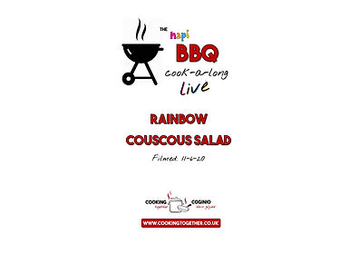 BBQ COOKALONG LIVE - RAINBOW COUSCOUS IN