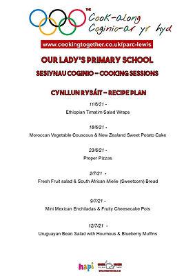 RECIPE PLAN - OUR LADYS PRIMARY SCHOOL.j