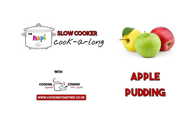 SLOW COOKER COOKALONG - APPLE SPONGE PUD