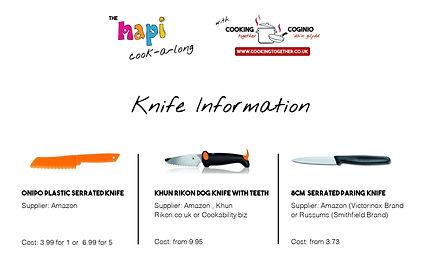 HAPI COOKALONG INFORMATION PAGE - KNIFE