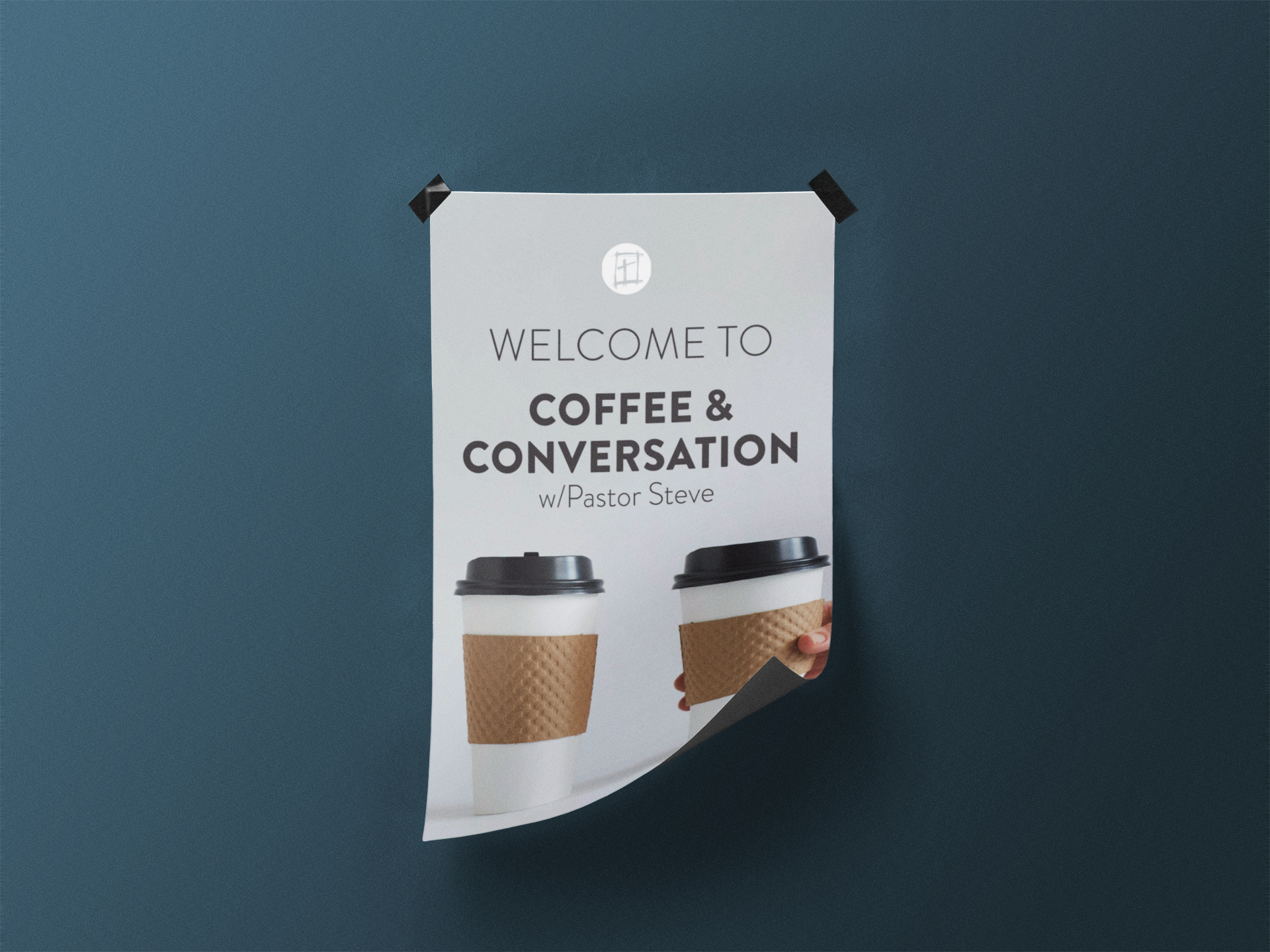 Coffee and Conversation Poster for HNW Church