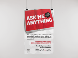 Ask Me Anything Poster from HNW Church Sermon Series