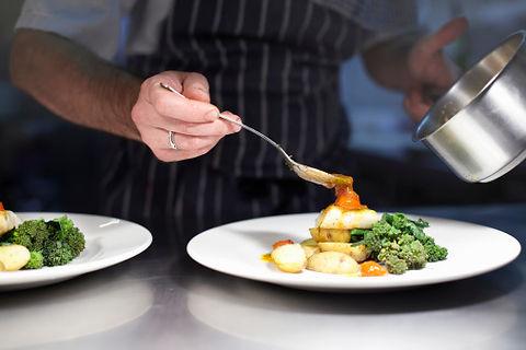 Chef preparar refeição