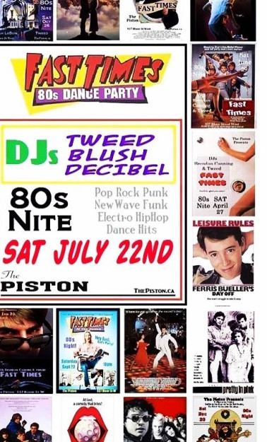 DJ Blush featured at Fast Times at The Piston, Toronto