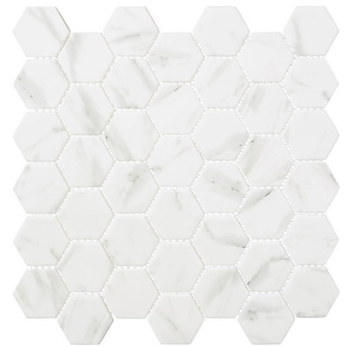"2"" Hexagon Egyptian Ivory"
