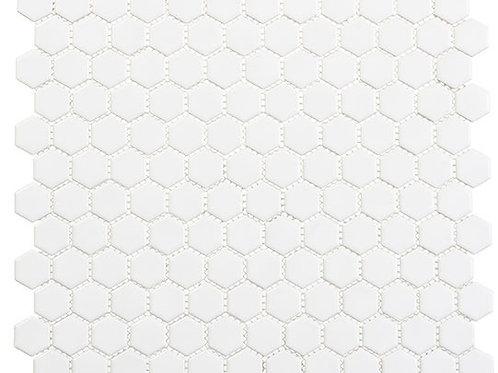 3/4 White Hexagon Matte