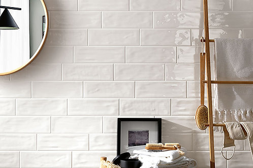 4x12 White Wavy Ceramic