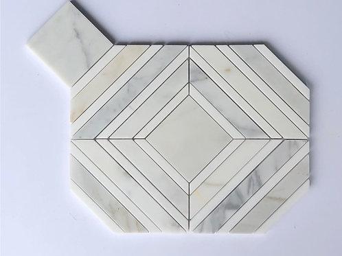 Square Diamond Calacatta Gold & Thassos