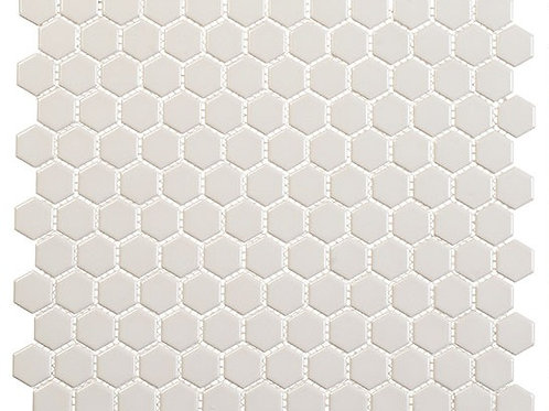 3/4 Beige Hexagon Glossy