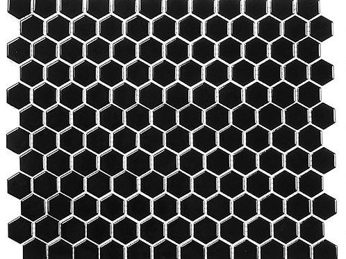 3/4 Black Hexagon Glossy
