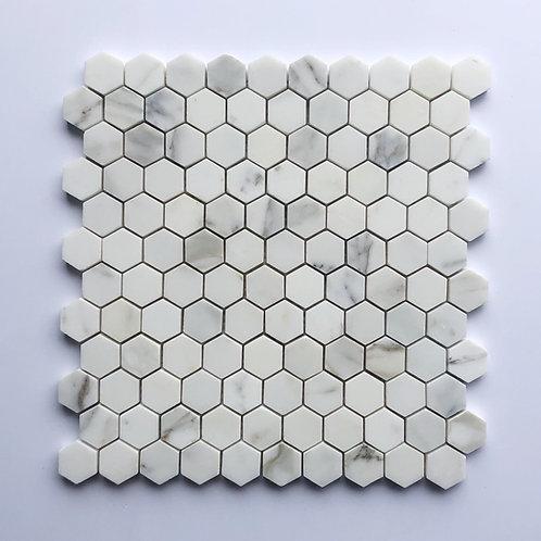 """1"""" Hexagon Calacatta Gold"""