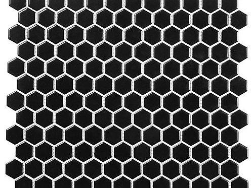3/4 Black Hexagon Matte
