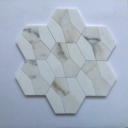 """5"""" Hexagon Calacatta Gold & Thassos"""