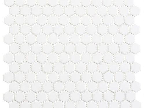 3/4 White Hexagon Glossy