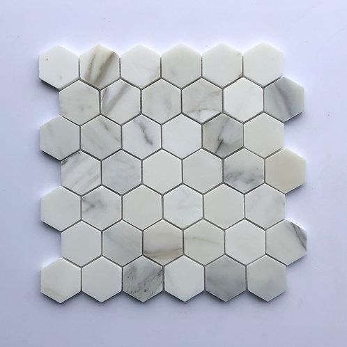 """2""""Hexagon Calacatta Gold"""