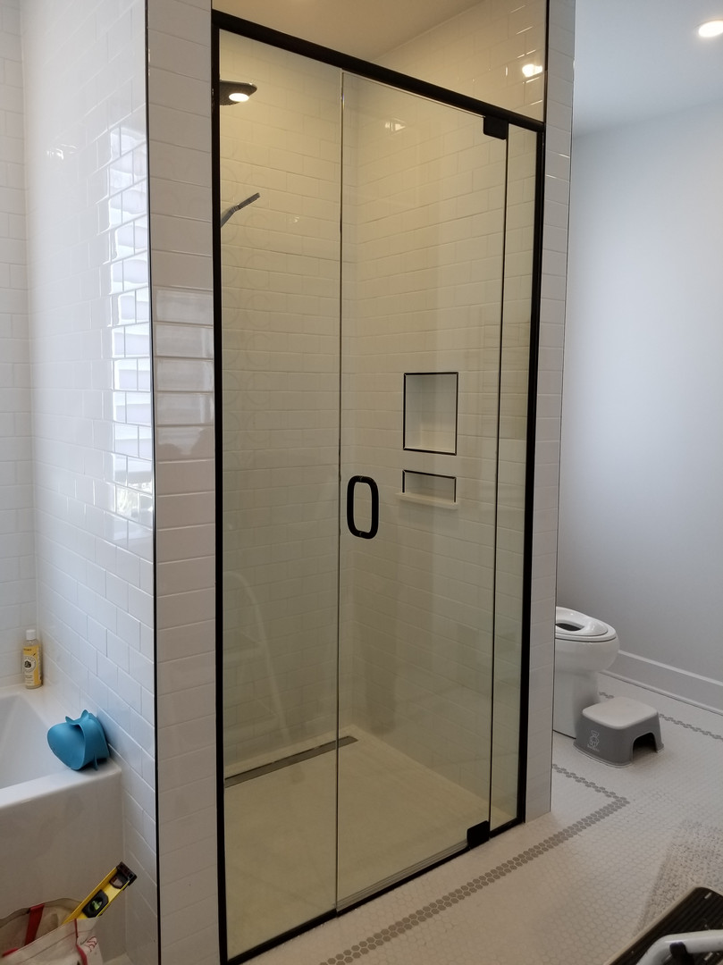 Custom Shower With Black Matt Hardware 2
