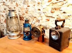 Lampes anciennes décoration mariage