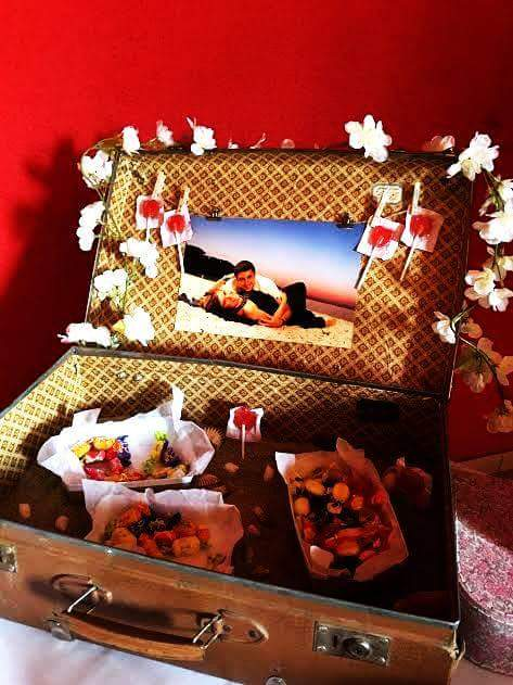 candy bar valise voyage mariage