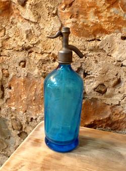 Siphon ancien bleu décoration perpi