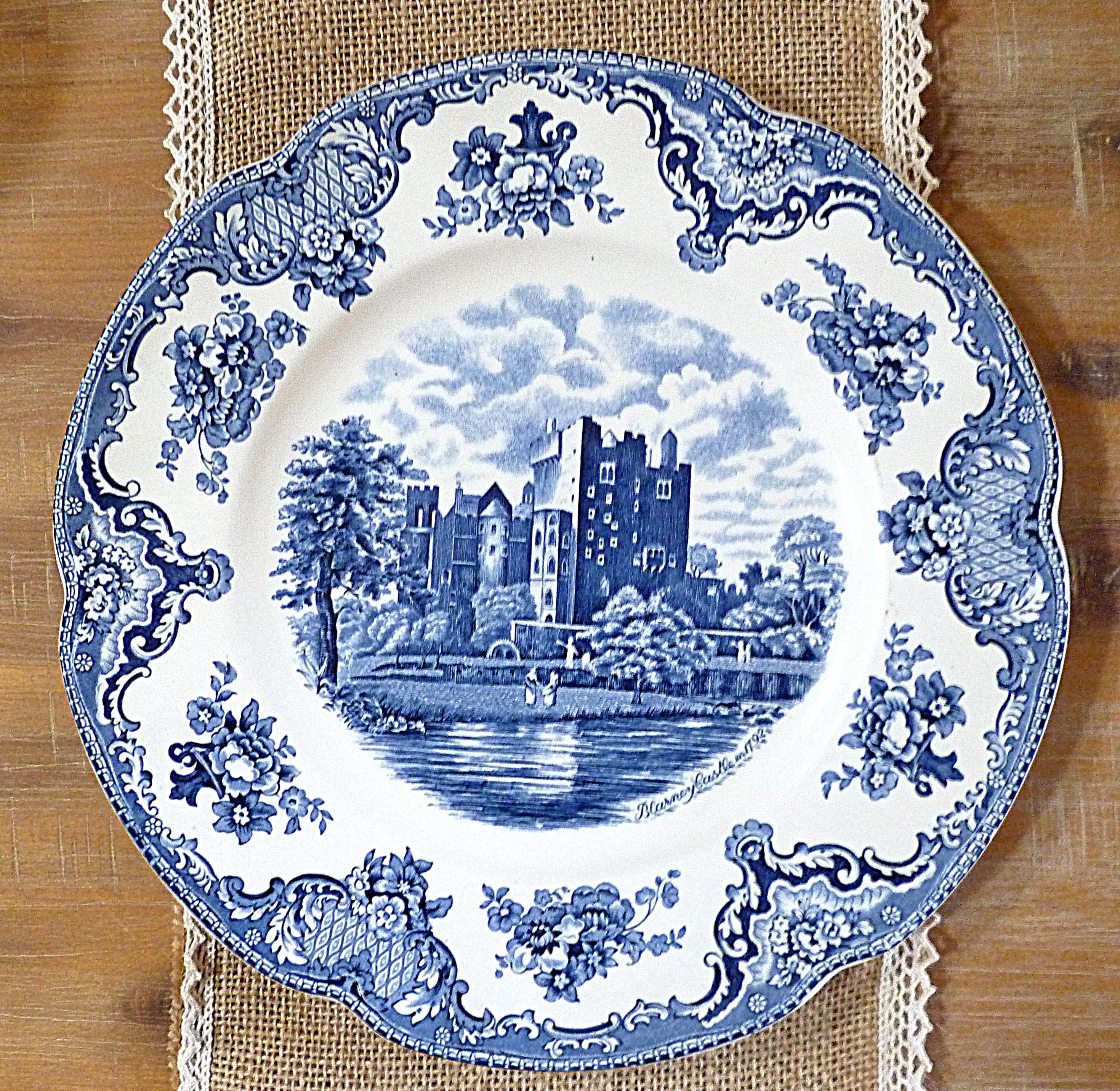 Assiette bleue Castle décoration 66