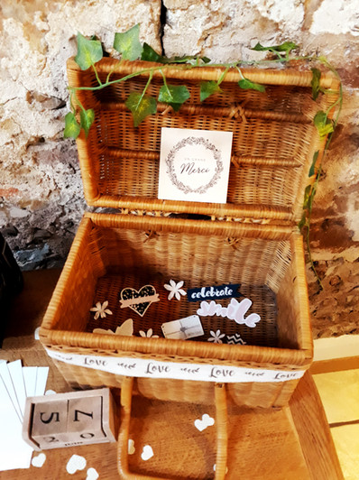 panier osier urne love  décoration decoration mariage wedding evenement perpignan pyrenees orientales 66 vintage deco de lo