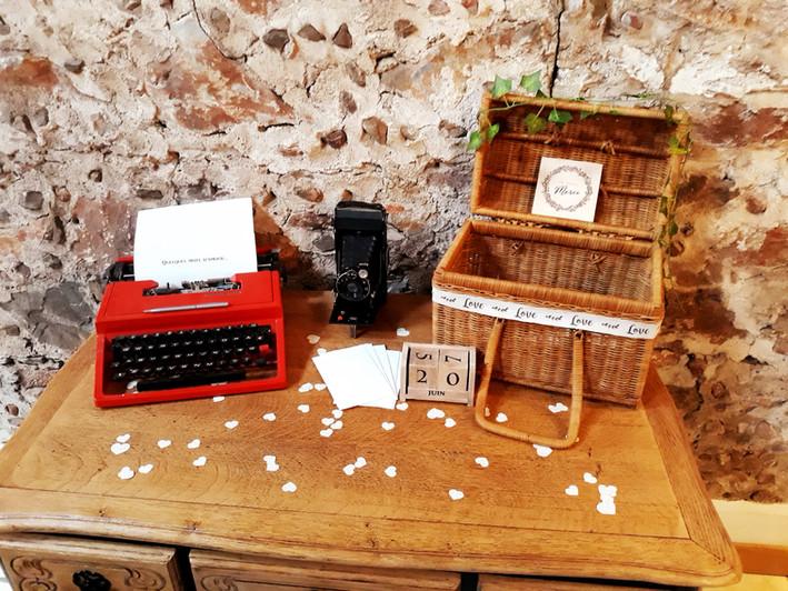 table de voeux signature love mots amour  décoration decoration mariage wedding evenement perpignan pyrenees orientales 66 vintage deco de lo