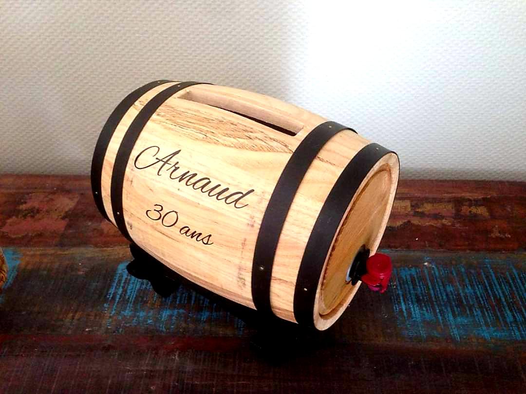 tonneau urne décoration mariage vin