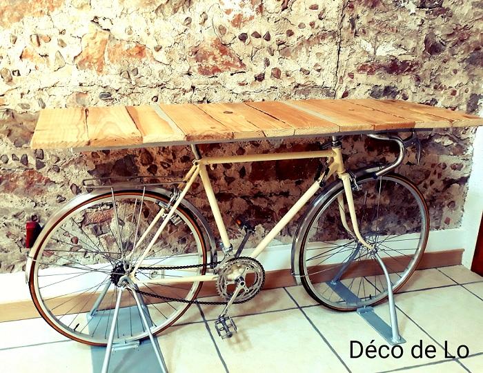 Vélo bar table comptoir vintage jus  mariage wedding perpignan pyrénées orientales 66 décoration