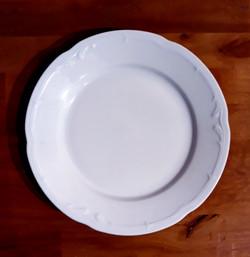 Assiette blanche à dessert vintage