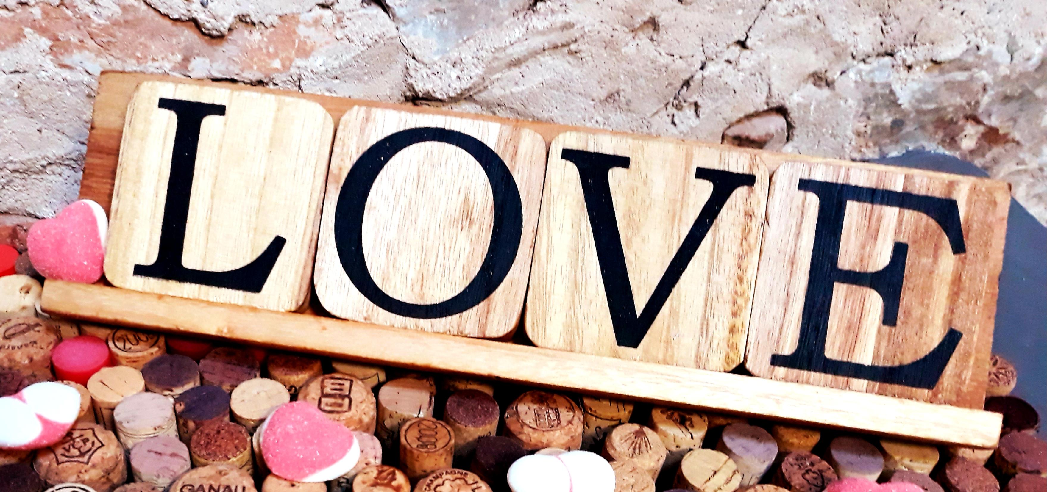 Love lettres bois décoration déco