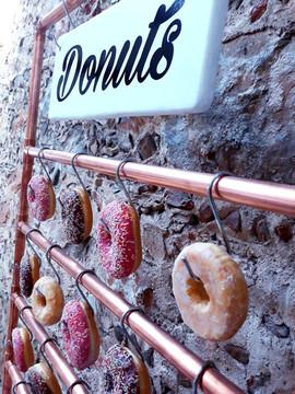 donuts bar candy crochets cuivre tube industriel décoration mariage perpignan