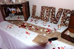 Table de voeux mariage décoration 66