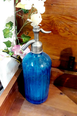 Siphon ancien bleu décoration bar