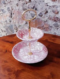 Présentoir à gâteaux rose