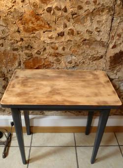 Petit bureau en bois déco mariage