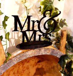 Mr and Mrs métal lettres noir déco